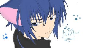 Ikuto line art revamped :3 by Aniko247