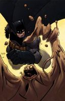 Batman and Clayface Done by eugenecommodore