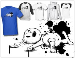 Urban Scrawl TEE design by InvisibleSnow