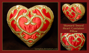 Skyward Sword Heart Container pillow by tavington
