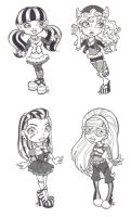 Monster High Chibis by DanikaMorningStar