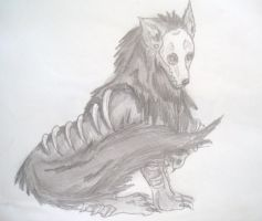 Death Skull Wolf by starbuxx