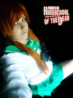High school of the dead Rei cosplay: In the dark by BunnyRue