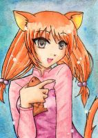 ACEO - Chili the Catgirl by Yenni-Vu
