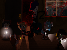 Playing slender commish by ThaMutt