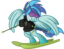 Skiing in Style - Aurora (Commission) by Jakage