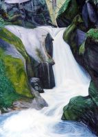 Waterfall 1 by jfkpaint