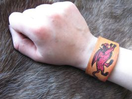 Leather cuff custom listing by CindarellaPop
