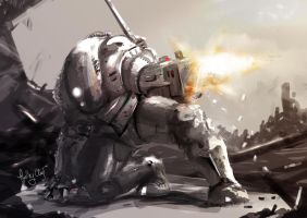concept speed paint of gunner by Kronium