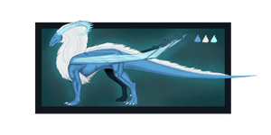 Ice prince dragon - Auction! (closed) by Tessith