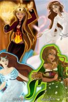 Greek Goddesses of the Elements by pjohootkc