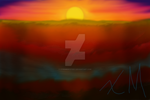 Quick Painting-Sunset by XtremeMystery