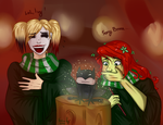 harley and Ivy in Hogwarts by Karin-Uz