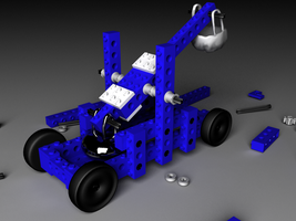 Legos Catapult by XdesignsIllusion