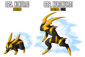Fakemon: 25 - 26 by DrCrafty