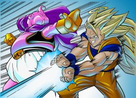 Goku vs Buu by TheNass