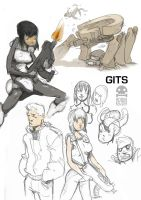 GITS fan art by RobinKeijzer