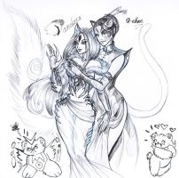 WIP two cat ladies of mine by driany