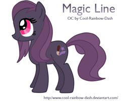 Magic Line - My pony OC by Cool-Rainbow-Dash