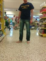 Barefoot at the supermarket by PhilsPictures