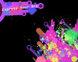 :Paint Splatter Art: by Kimariwarui
