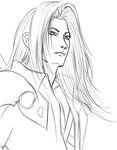 Sephiroth Sketch by LeFayOne