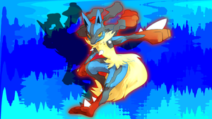 Mega Lucario Wallpaper 2 by Glench