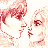 Barnabas and Angelique by Elsaaaa