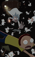 Rick and Morty in space by Rika-Wawa