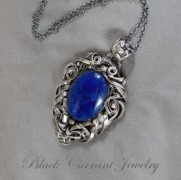 Lapis Lasuli in Sterling Silver by blackcurrantjewelry