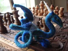 felted Bluegreen Dragon 2 by Projectsubvert