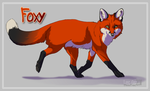 Trotting Foxy by DawnFrost