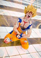 Goku cosplay  - The power of rage by Alexcloudsquall