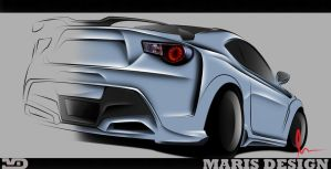 Toyota GT 86/ Subaru BRZ Lineart by MarisDesign by MarisDesign