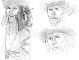 Davy Jones Human Sketches by Swashbookler