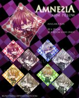 Amnesia pillow case by kuso-taisa