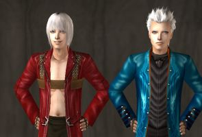 Sims 2: Dante and Vergil by VampirePrincess13