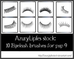 Brushes -Eyelashes by AzurylipfesStock