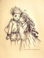 Gon and Alluka from HUNTER x HUNTER by HikaruYukiHime