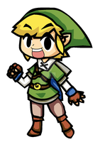 TOON SKYWARD SWORD LINK by Death-Note-Ninja02