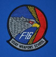 F-16 Division, USAF Weapons School Patch by F16CrewChief