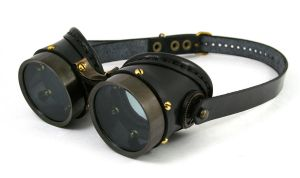 Steampunk goggles - blackened brass by AmbassadorMann