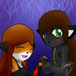 Issabelle and Tukari by CaitlinBear