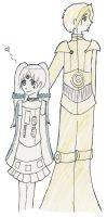 Humanized C-3PO and R2-D2 by morgana007