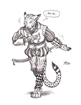 ''Daily'' sketch - The Fanciest Cat Alive. by 0laffson