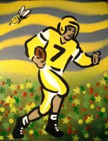 Football Player and Bee I Wish by chrispjones