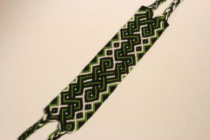 green celtic friendship bracelet by fbraceletfreak