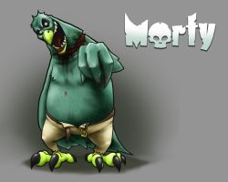 Morty the Zombie Chicken by AstroHelix