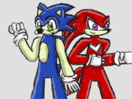 :AT: Sonic and Knuckles by SurgeCraft