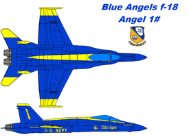 Boeing F-18 Blue angles by bagera3005